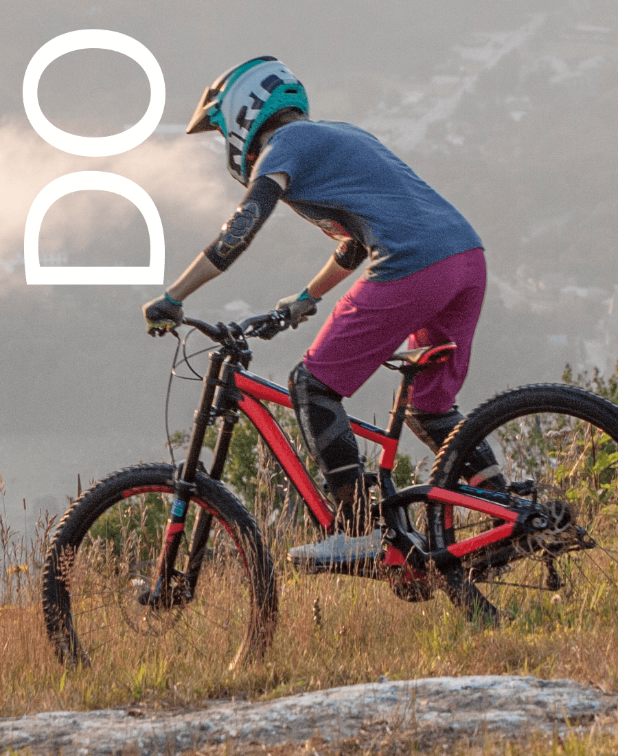 Image of mountain biker. Things to do outside.